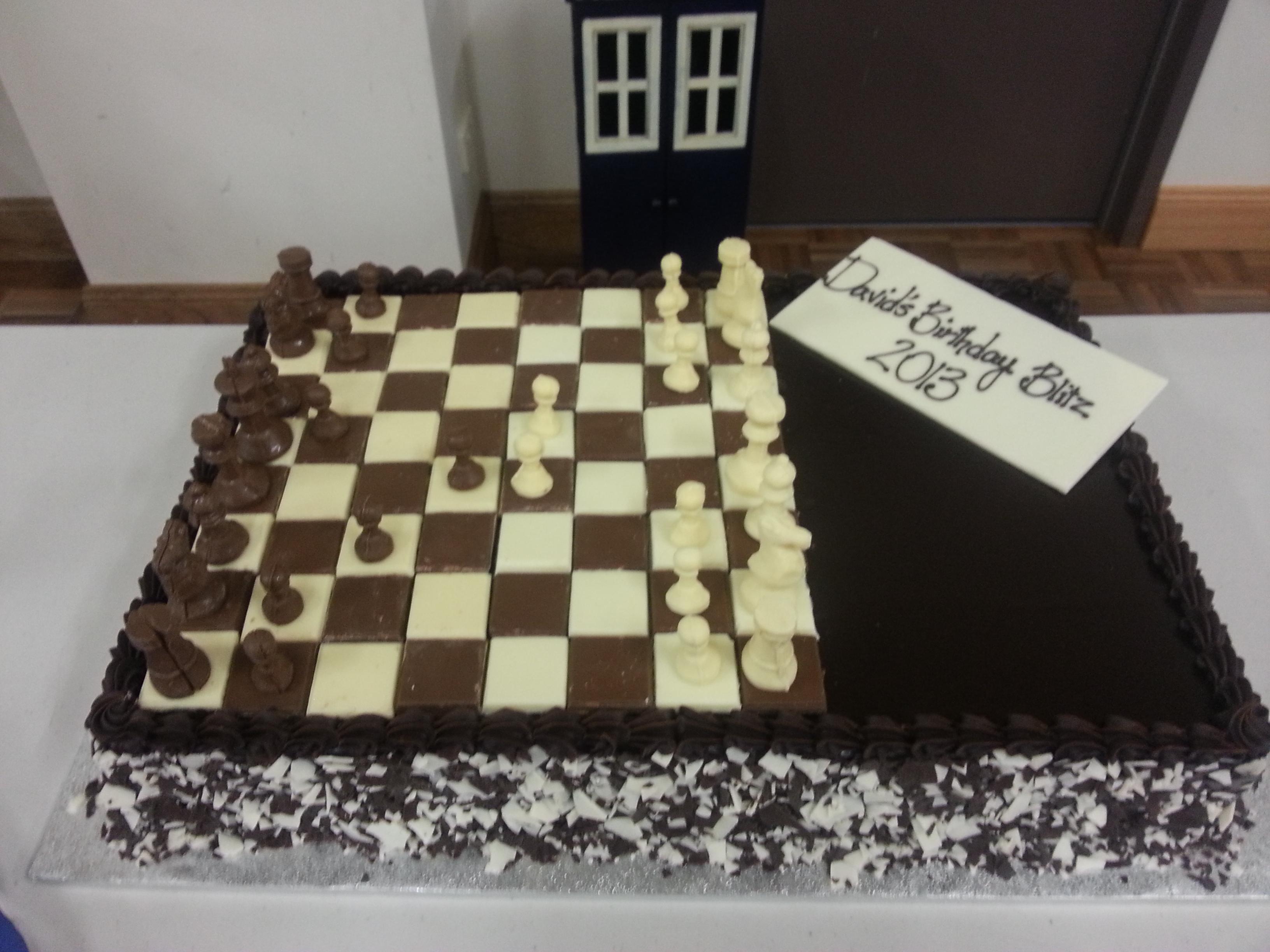 Birthday Cake Overall View Chesslife