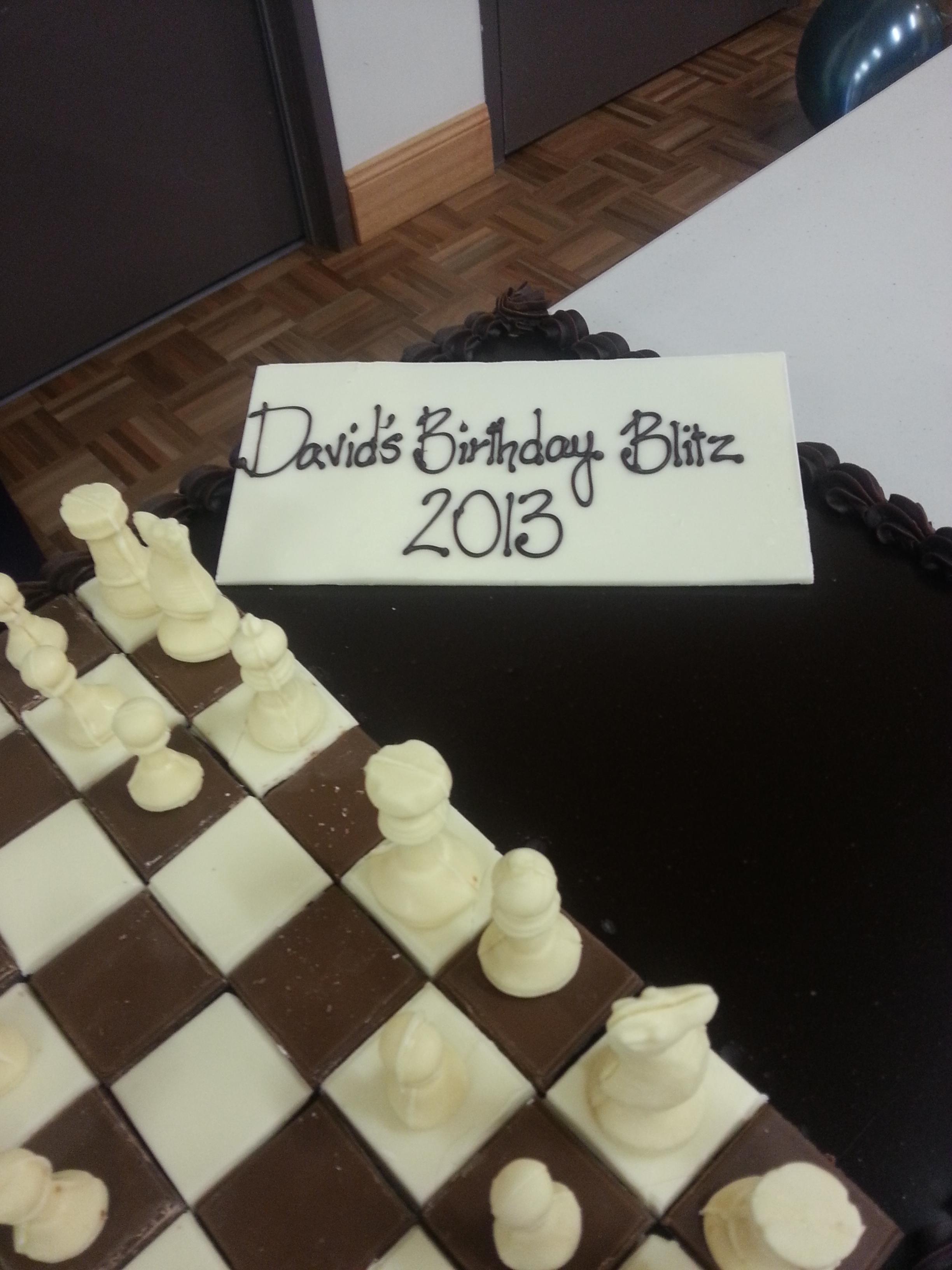 Birthday Cake Plaque Chesslife