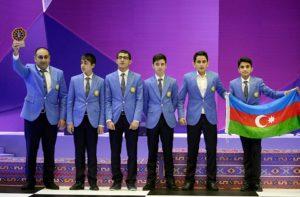 Azerbaijani team scoring Gold in Category C. Photo courtesy of Baku Olympiad FB page