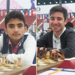 14 year old FM Abdulla and 16 year old FM Nail from Azerbaijan