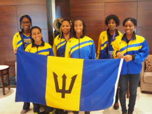 The Women's team from Barbados
