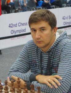 GM Sergey Karajakin on board 1 for Russia