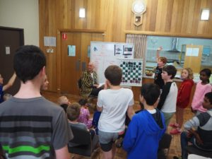 Gabriel excitingly participating at the Hahndorf chess club